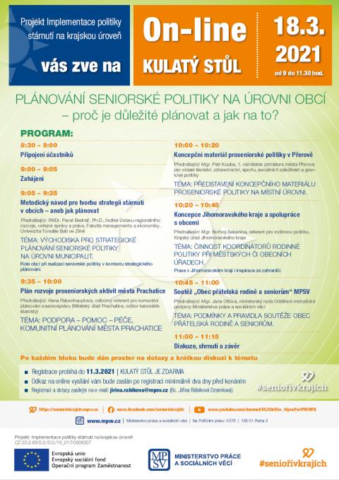 On-line kulatý stůl Plánování seniorské politiky na úrovní obcí